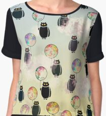 Creatures In The Sky Chiffon Top