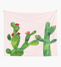 Blush pink - cactus Wall Tapestry