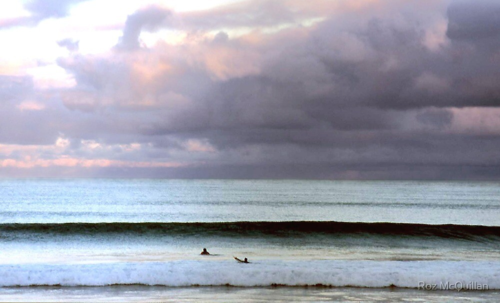 Two Surfers, Lorne by Roz McQuillan