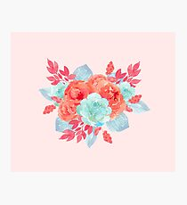 Blush pink - succulent bouquet Photographic Print