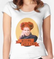 Resting Witch Face -winifred Sanderson Hocus Pocus Women's Fitted Scoop T-Shirt