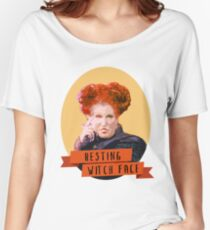 Resting Witch Face -winifred Sanderson Hocus Pocus Women's Relaxed Fit T-Shirt