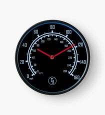 Neon Car Speedometer Clock