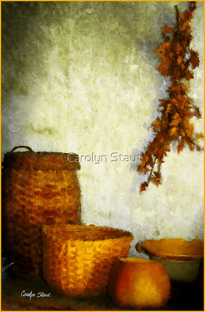 Golden Baskets by Carolyn Staut