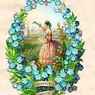 Victorian album sheet 1860 by patjila