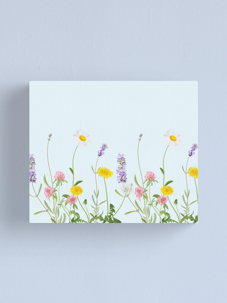 Alternate view of Pastel cyan - wildflower dreams Canvas Print