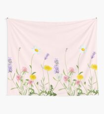 Blush pink - wildflower dreams Wall Tapestry