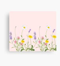 Lienzo Blush rosa - sueños de flores silvestres