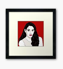 Nikki Bella vector portrait Framed Print
