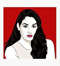 Nikki Bella vector portrait Photographic Print