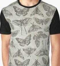Lepidoptera Beige Graphic T-Shirt