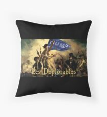 Les Deplorables For Trump Throw Pillow
