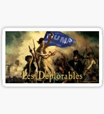 Les Deplorables For Trump Sticker