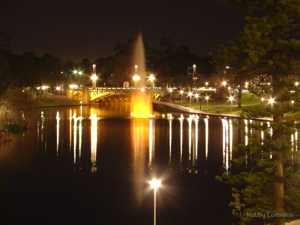 Overexposed Adelaide - River Torrens Fountain by Robby Cummins