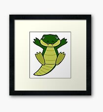 Crocodiles need cuddles too!!! Framed Print