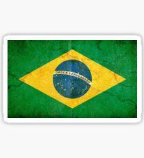 Vintage Grunge Brazil Flag Sticker