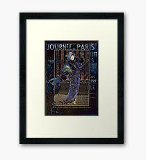 Une Valentine Parisienne Framed Print