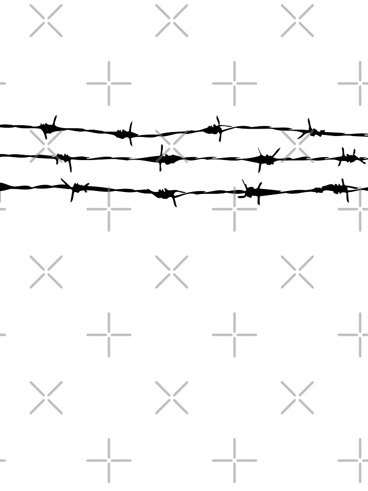 Punk Style Barbed Wire Graphic Design\