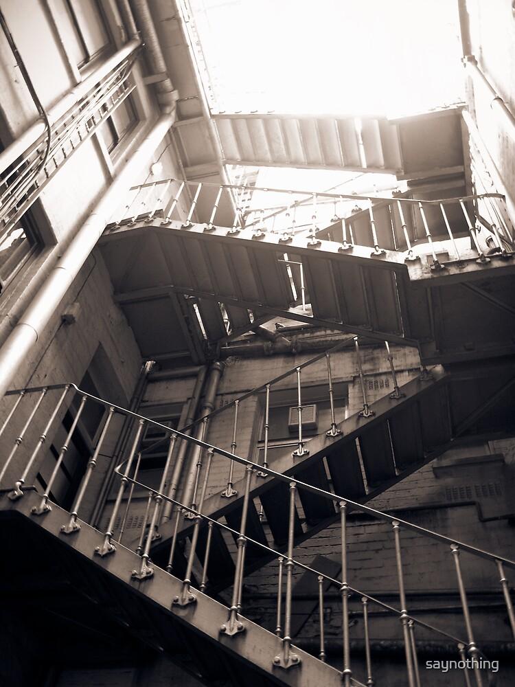 Steel stairway by saynothing