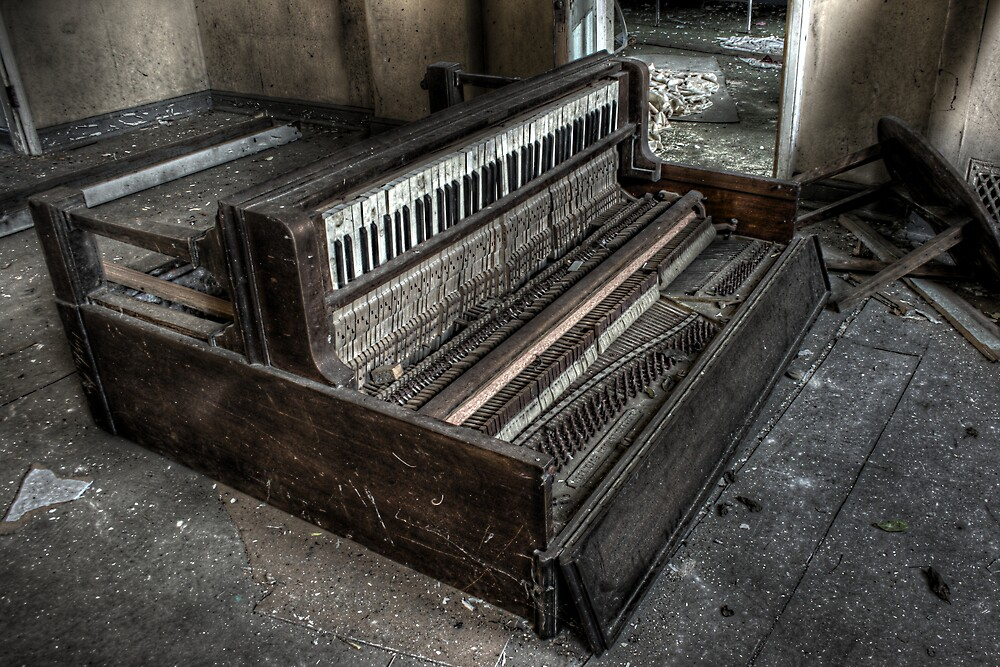Fallen Piano by Richard Shepherd