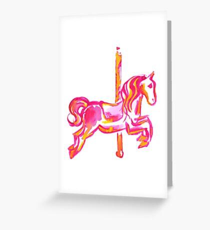 Merri-Go-Round Greeting Card