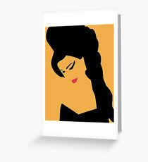 Amy- Back to Black  Greeting Card