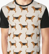 Bloodhound dog breed dog pattern pet friendly pet portraits custom dog gifts by PetFriendly Graphic T-Shirt