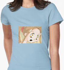 Manga girl 02 Womens Fitted T-Shirt