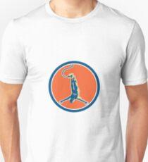 Bungy Jumping Retro Circle T-Shirt