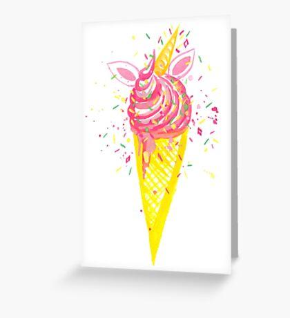 Uni-cone Greeting Card