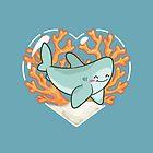 BYTE the Great White Shark by bytesizetreas
