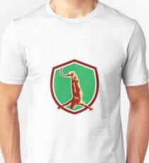 Bungy Jumping Retro Shield T-Shirt