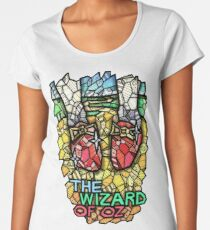 The Wizard of Oz - Stained Glass Art Women's Premium T-Shirt