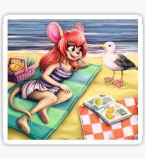 beach picknick Sticker
