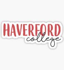 Haverford College Sticker Sticker