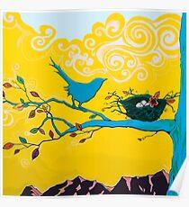 Bird Painting Poster