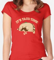 Taco Time! Women's Fitted Scoop T-Shirt