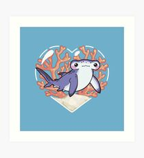 NIBBLE the Hammerhead Shark Art Print