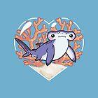 NIBBLE the Hammerhead Shark by bytesizetreas