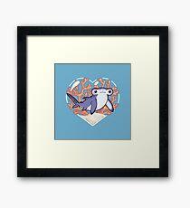 NIBBLE the Hammerhead Shark Framed Print