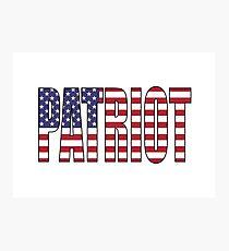 Patriot (USA) Photographic Print