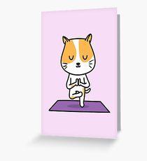 Yoga Cat Greeting Card