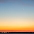Crescent Moon over Lake by JeremyF