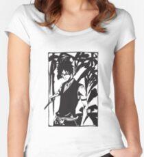 Bleach Manga Artwork Women's Fitted Scoop T-Shirt