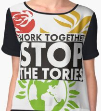 Work Together - Stop The Tories Women's Chiffon Top