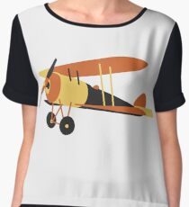 vintage  airplane from WWI era Chiffon Top