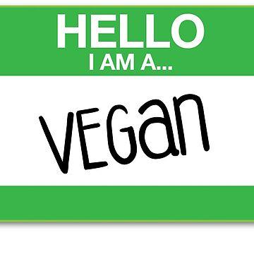 Hello I am Vegan by TitusArtwork