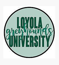 Loyola University Maryland Greyhounds Photographic Print