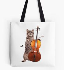 Cello Cat - Meowsicians Tote Bag