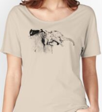 Affectionate Young Elephants | African Wildlife Women's Relaxed Fit T-Shirt